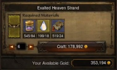 Crafting Multiple Items in Patch 1.0.8