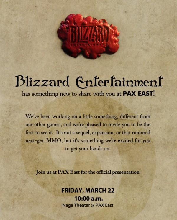 Blizzard Announcement at PAX East