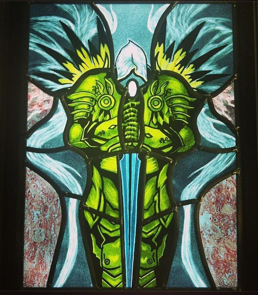 Tyrael Stained Glass Window - Artificial Light