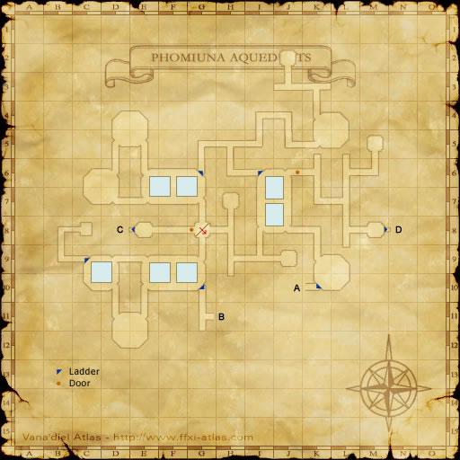 Zone: Phomiuna Aqueducts - Final Fantasy XI - somepage.com on charis island map, dread empire map, second exit garlaige citadel map, world political map, elemental world map,